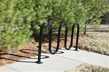 Metal Wave Bike Rack